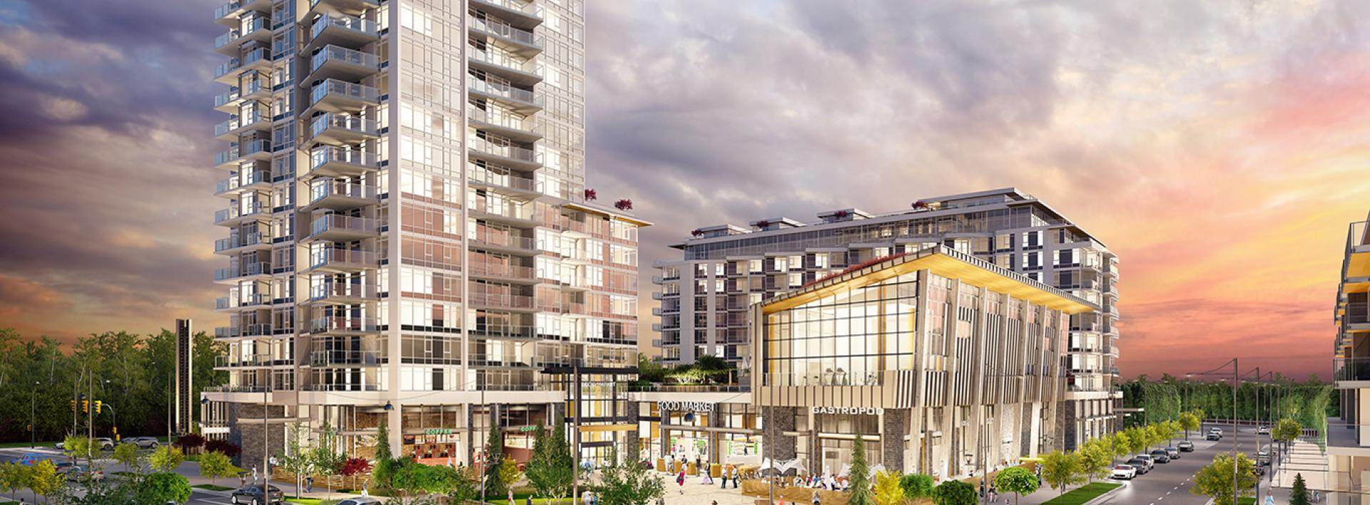 CG Render River District Vancouver BC