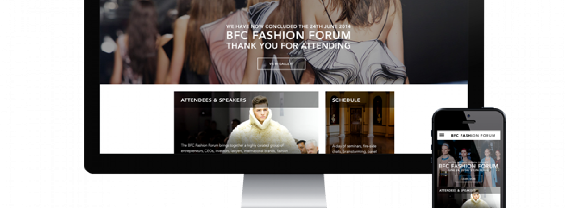 British Fashion Council BFC Fashion Forum Website and app built by Intergalactic